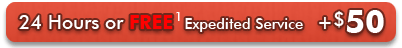 24 Hours of Free Expedited Service[1] - +$50